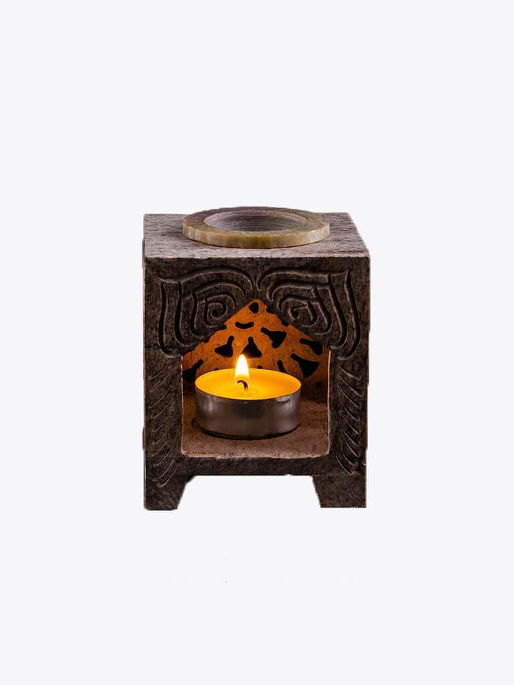 Soapstone Tea Light Oil Burner - Kleem - £10.00