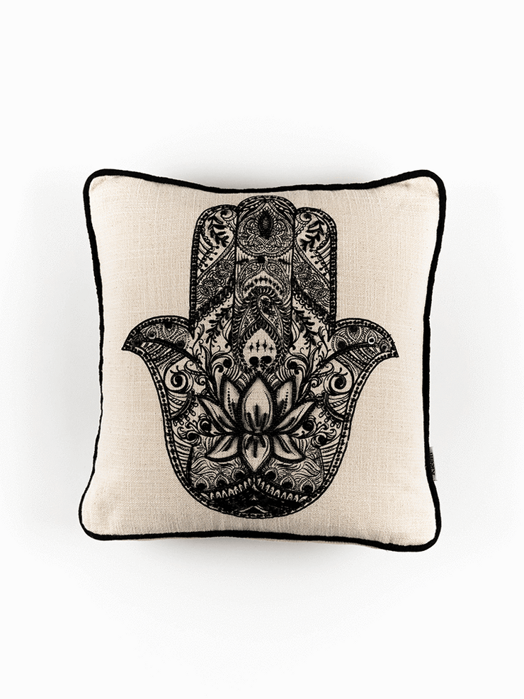 Kleem Decorative Cushions The Hamsa Cushion Cover : Buy 2 Get Third Free