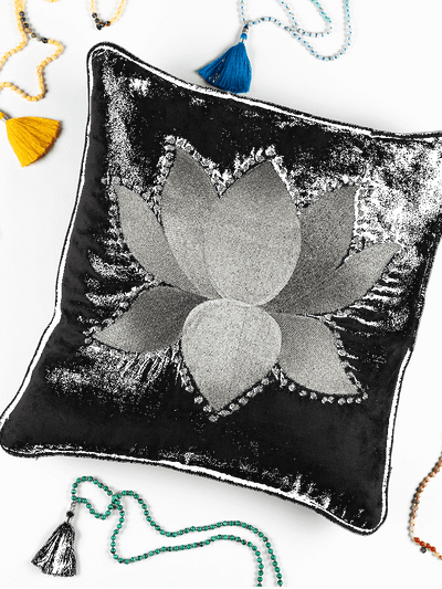 Kleem Decorative Cushions The Lotus Cushion Cover : Buy 2 Get Third Free