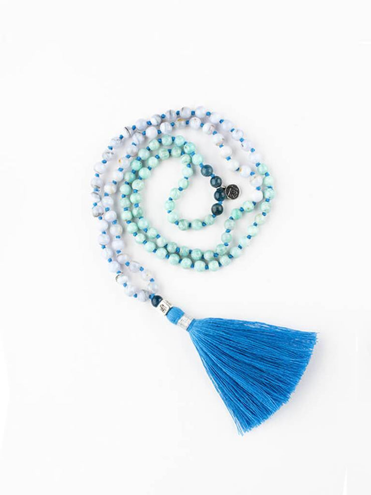 Kleem Mala necklaces Blue Mala of Freedom Of Expression