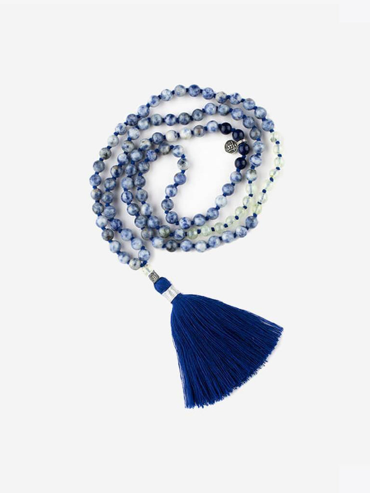 Kleem Mala necklaces Blue Mala of Inward Connection