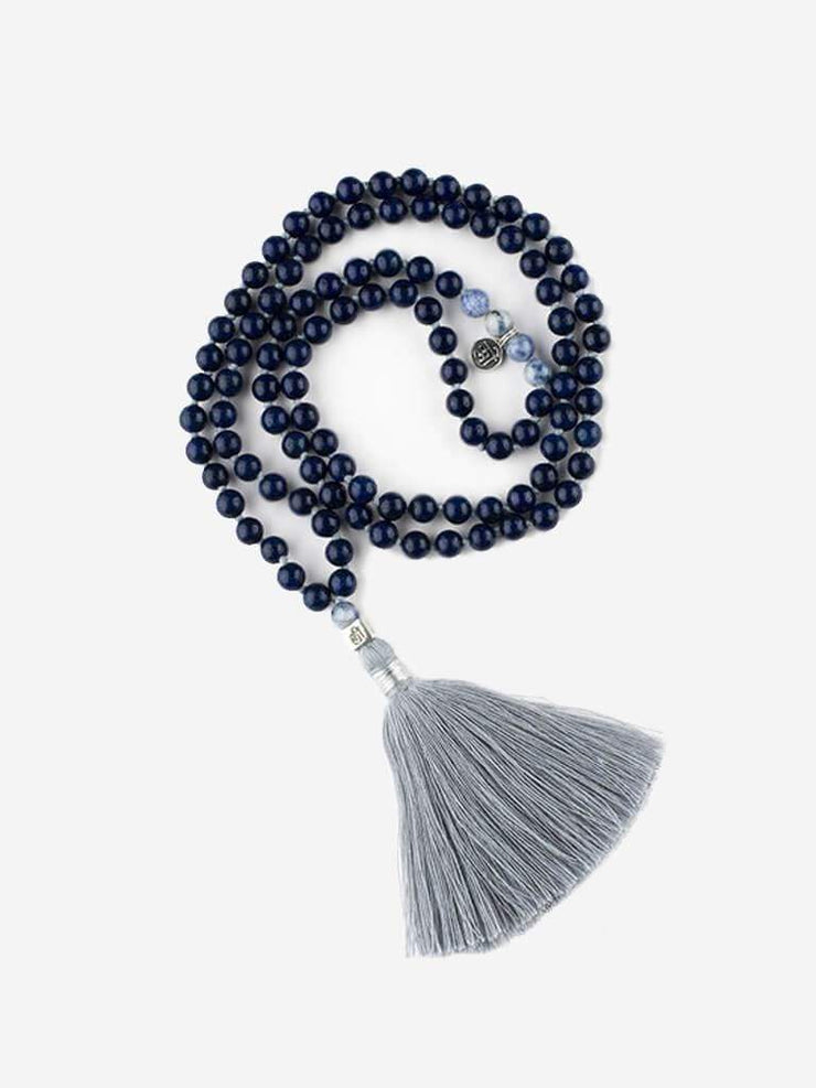 Kleem Mala necklaces Blue Mala of Self Discovery