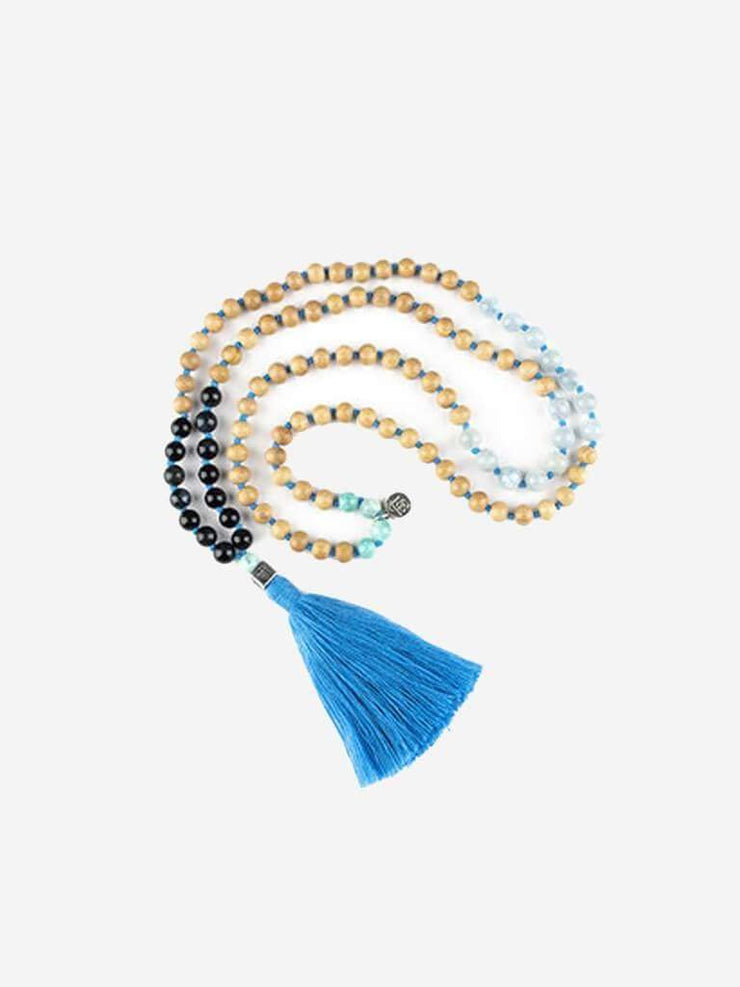 Kleem Mala necklaces Blue Prinana Mala (Soothing) - Throat Chakra