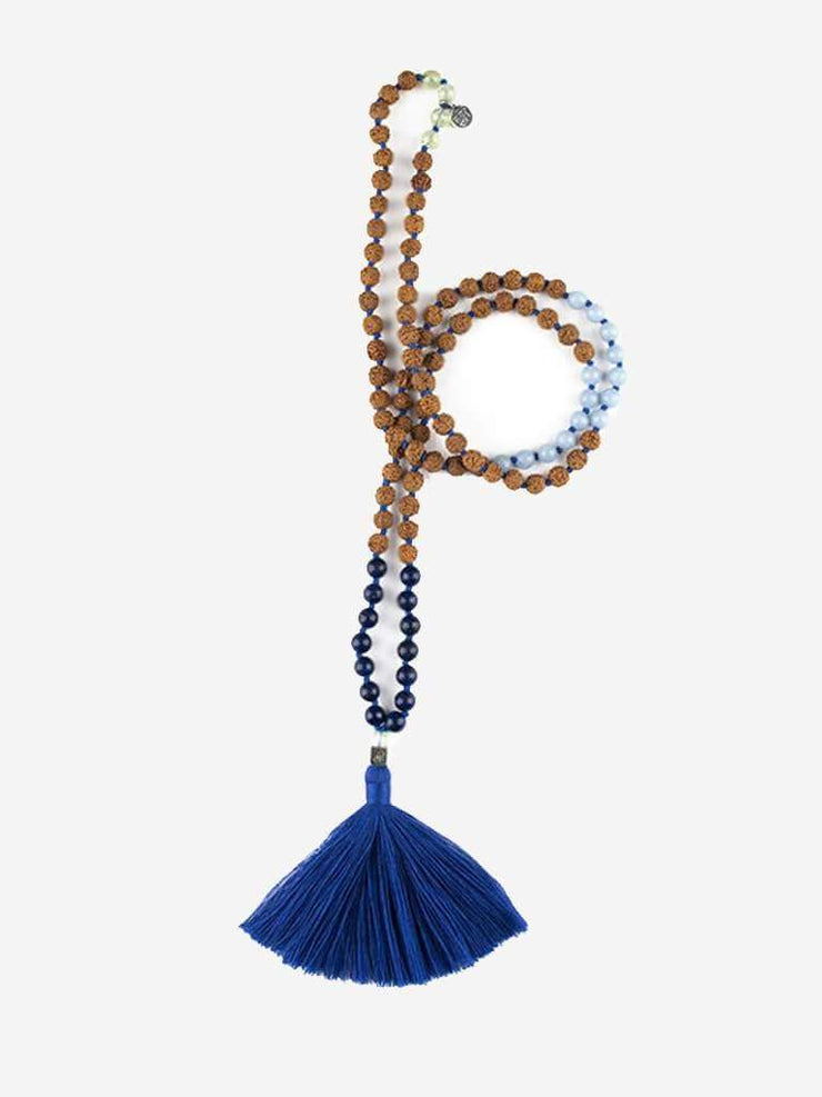 Kleem Mala necklaces Blue Tri-Lochana Mala - Third Eye Chakra
