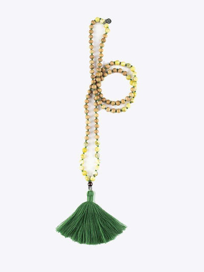 Kleem Mala necklaces Green Arambha Mala (Beginning of a Task) - Heart Chakra