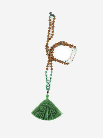 Kleem Mala necklaces Green Om-Kara Mala - Heart Chakra
