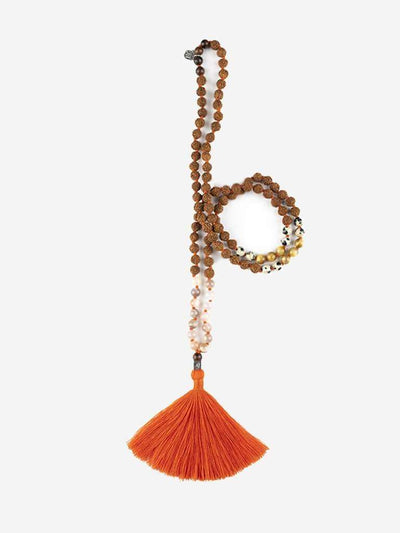 Kleem Mala necklaces Orange Nataraja Mala - Sacral Chakra