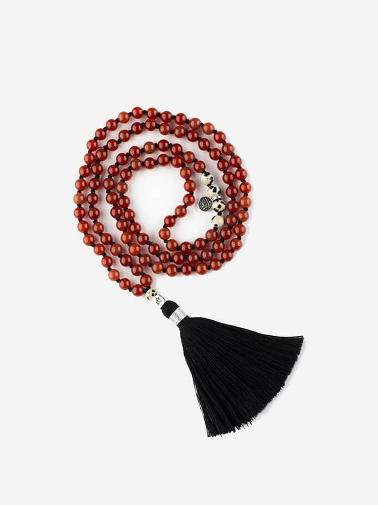 Kleem Mala necklaces Red Mala of Courage