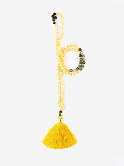 Kleem Mala necklaces Yellow Mala of Personal Power