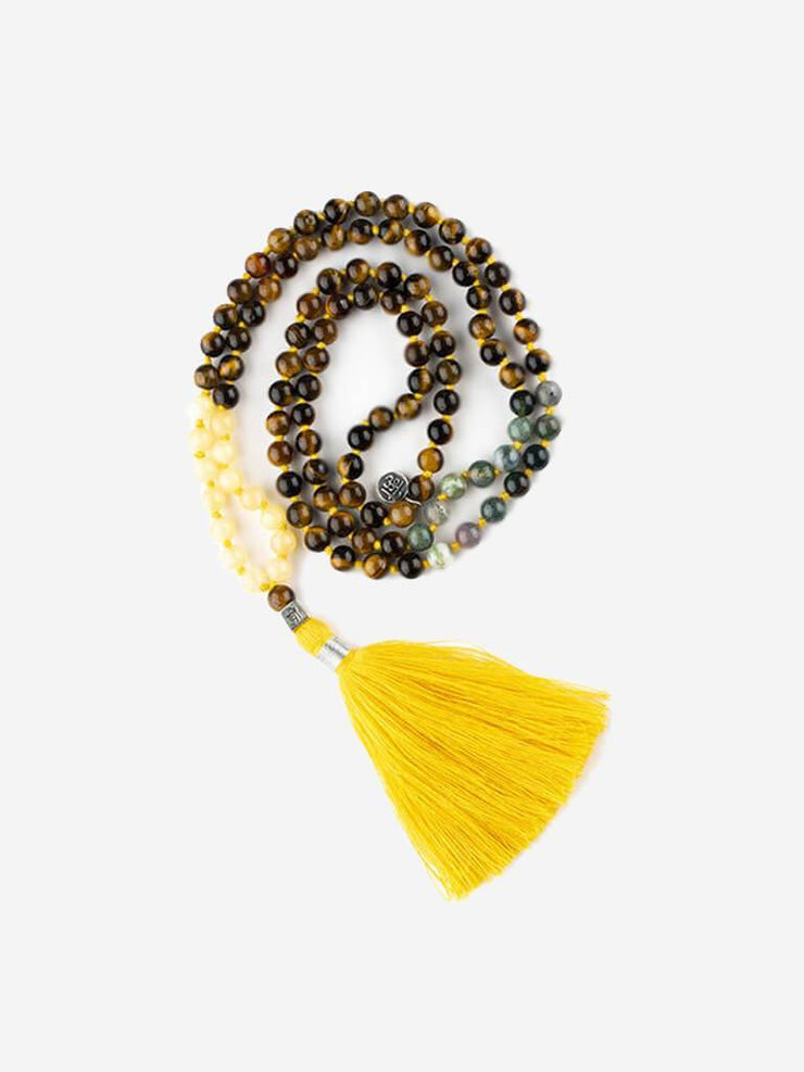 Kleem Mala necklaces Yellow Mala of Self Worth