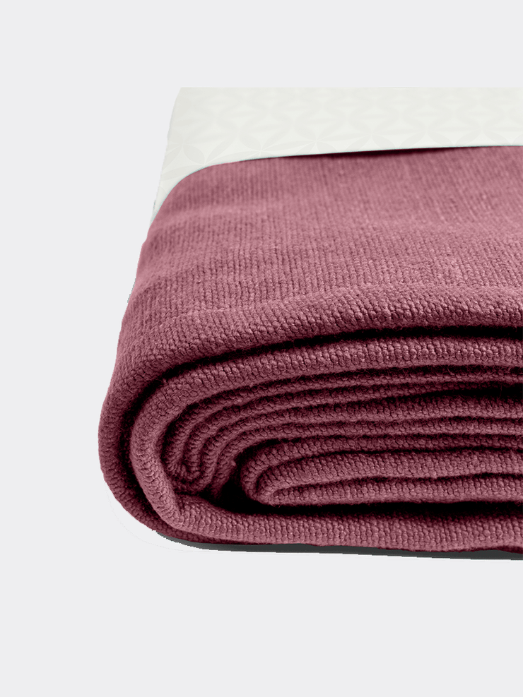 Lotuscrafts Blankets Purple Yoga blanket SAVASANA - Aubergine