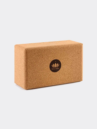 Lotuscrafts Yoga Blocks & Bricks Natural Cork Yoga Brick Super Grip