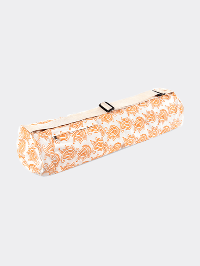 Lotuscrafts Yoga Mat Bags Orange Yoga Mat Bag MYSORE Mehera Shaw Edition - Sunset Paisley