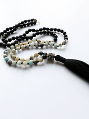 Shaligram & Amazonite Mala - Lovetree - £110.00