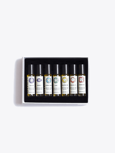 Made By Yogis Essential Oils Chakra Aroma Roller Gift Set