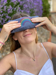 Rainbow Lavender Eye Pillow - NHS Charities Together Fundraiser - Made By Yogis - £24.95