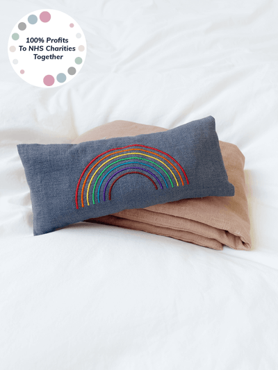 Rainbow Lavender Eye Pillow - NHS Charities Together Fundraiser - YogaClicks - £24.95