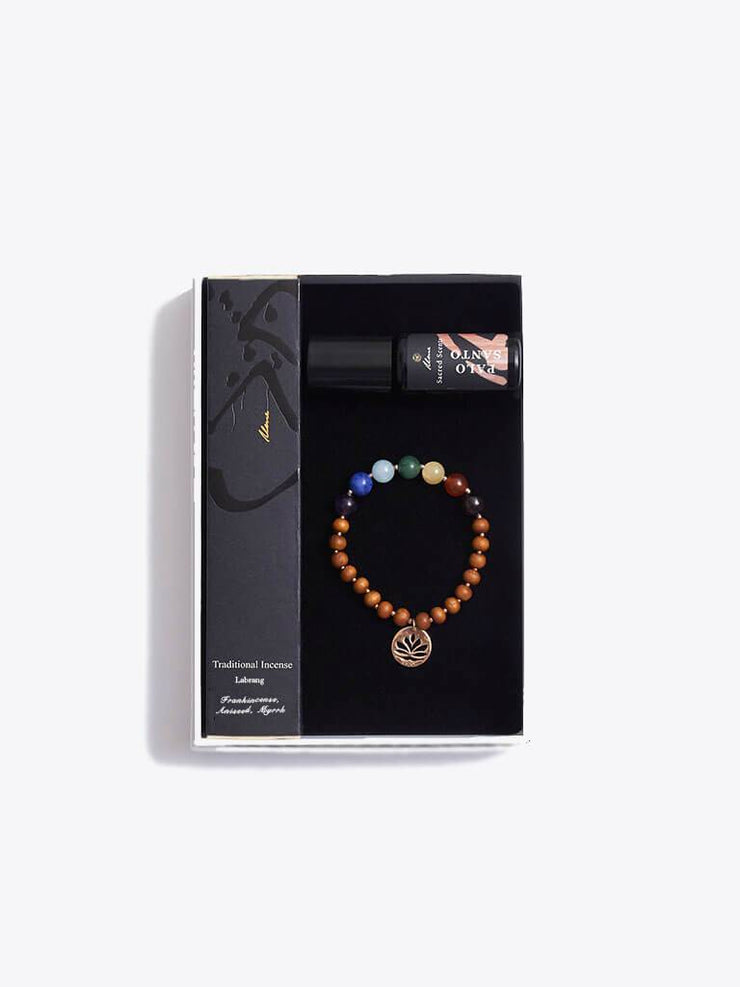 Made By Yogis Gift Boxes Chakra Bracelet, Essential Oils & Incense Sticks Gift Set