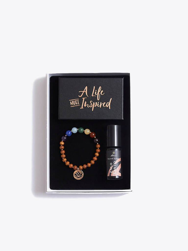 Made By Yogis Gift Boxes Chakra Bracelet, Essential Oils & Inspirational Cards Gift Set