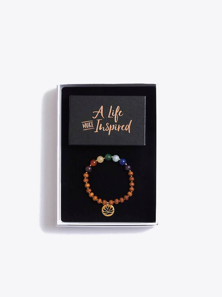 Made By Yogis Gift Boxes Small / Gold Chakra Bracelet & Inspirational Cards Gift Set