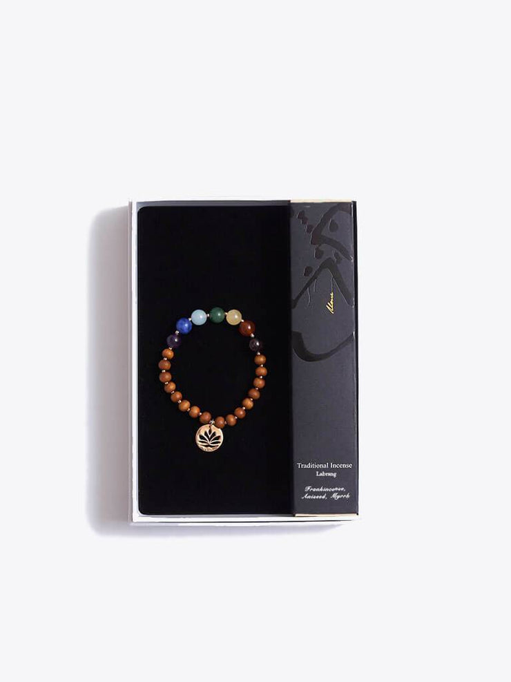 Made By Yogis Gift Boxes Small / Rose Gold Chakra Bracelet & Frankincense Incense Gift Set