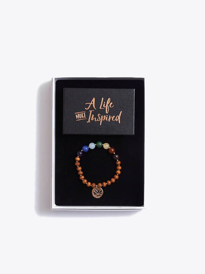 Made By Yogis Gift Boxes Small / Rose Gold Chakra Bracelet & Inspirational Cards Gift Set
