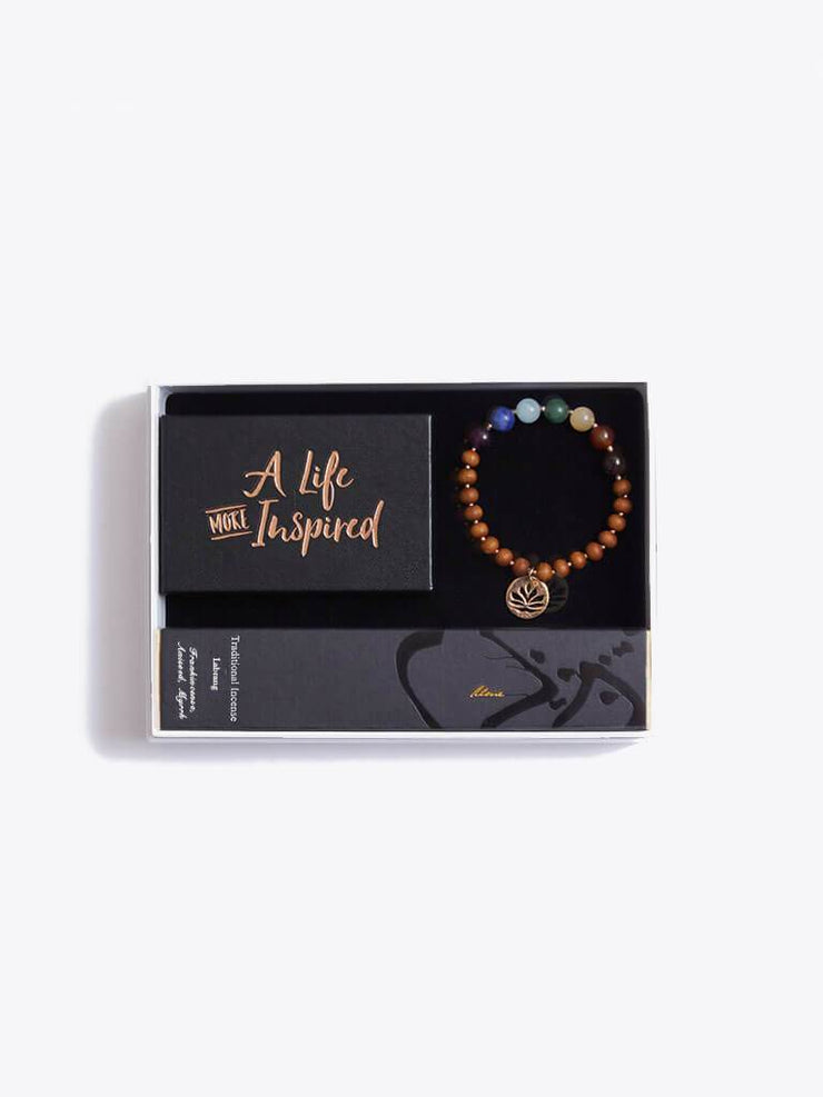 Made By Yogis Gift Boxes Small / Rose Gold Chakra Bracelet, Inspirational Cards & Incense Sticks Gift Set