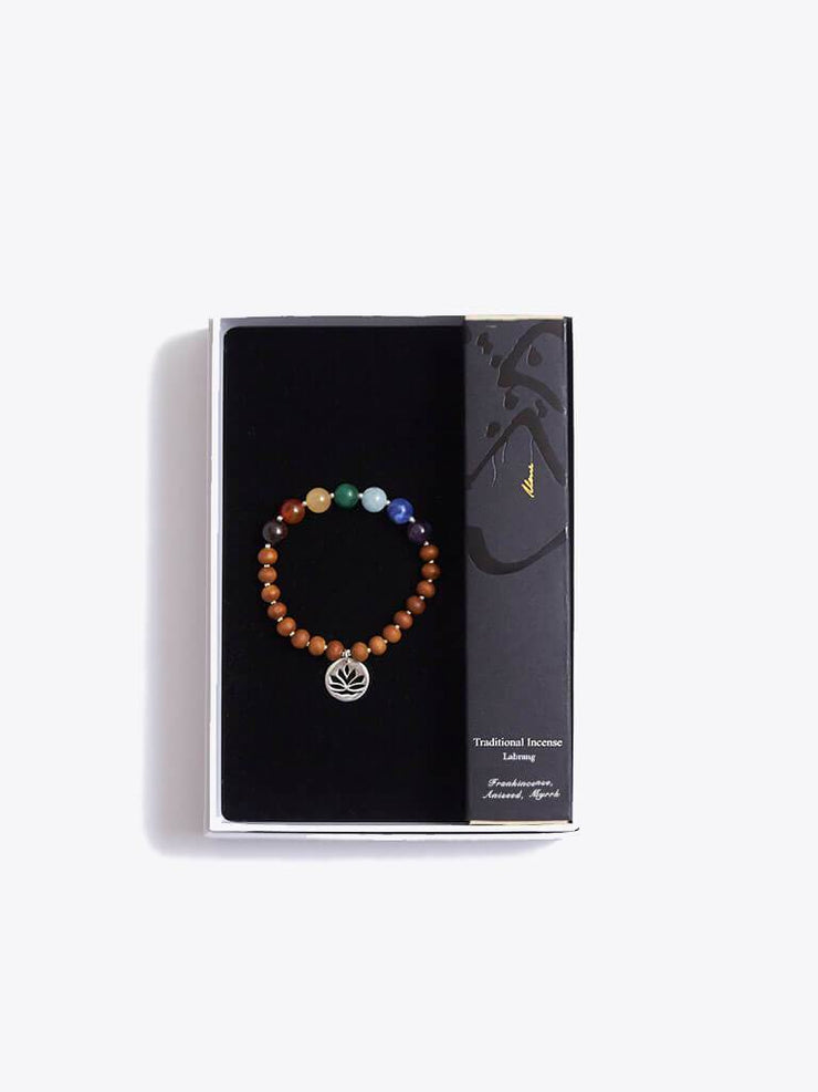 Made By Yogis Gift Boxes Small / Silver Chakra Bracelet & Frankincense Incense Gift Set
