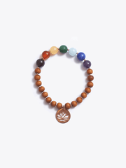 Made By Yogis Mala bracelets Healing Intentions 7 Gemstone and Sandalwood Chakra Bracelet