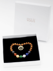 Healing Intentions 7 Gemstone and Sandalwood Chakra Bracelet - Made By Yogis - £40.00