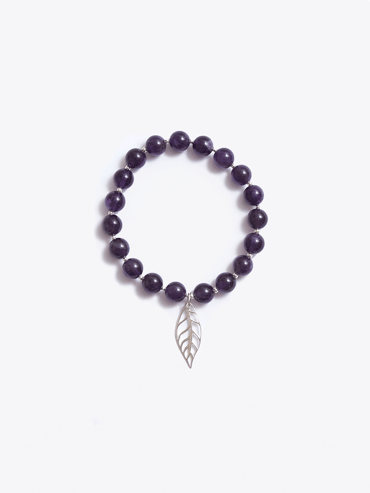 Healing Intentions Amethyst Crown Chakra Bracelet - Made By Yogis - £45.00