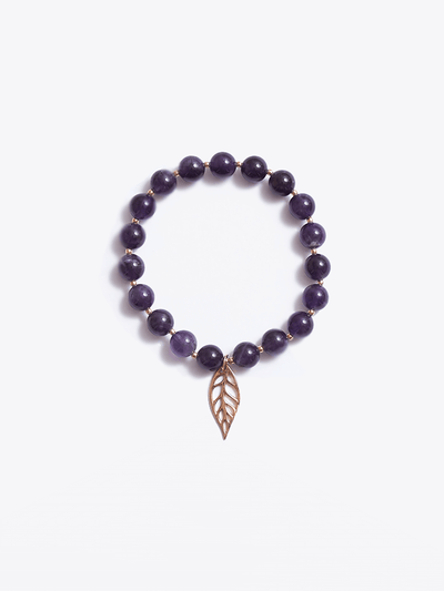"""I am Peace"" Crown Chakra Bracelet - YogaClicks - £45.00"