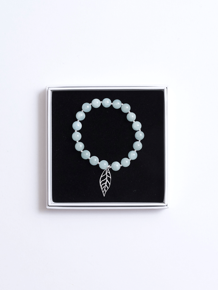 Healing Intentions Aquamarine Throat Chakra Bracelet - Made By Yogis - £45.00