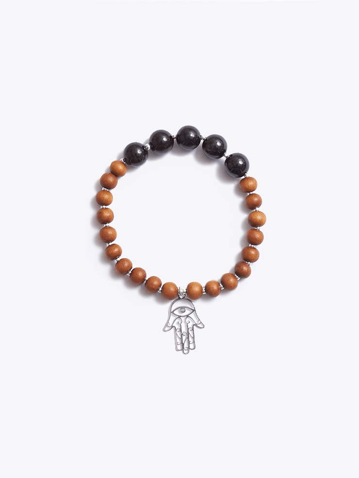 Made By Yogis Mala bracelets Healing Intentions Garnet and Sandalwood Root Chakra Bracelet