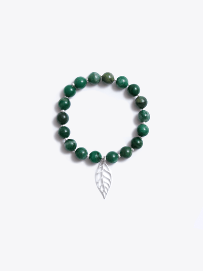 Made By Yogis Mala bracelets Healing Intentions Green African Jade Heart Chakra Bracelet