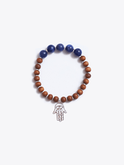 Made By Yogis Mala bracelets Healing Intentions Sodalite and Sandalwood Third Eye Chakra Bracelet