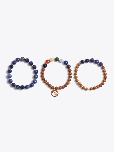 """I am Intuitive"" Third Eye Chakra Bracelet Stack - YogaClicks - £95.00"
