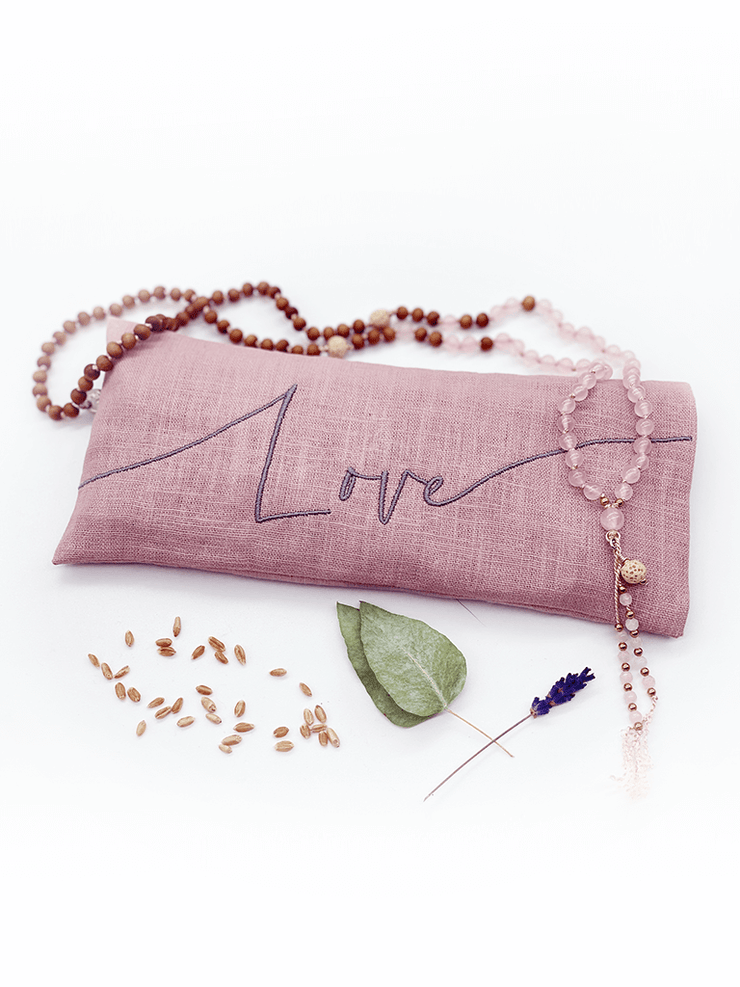 Made By Yogis Mat Bundles The Classic Eco Mat Yoga Bundle + Embroidered Linen Eye Pillow