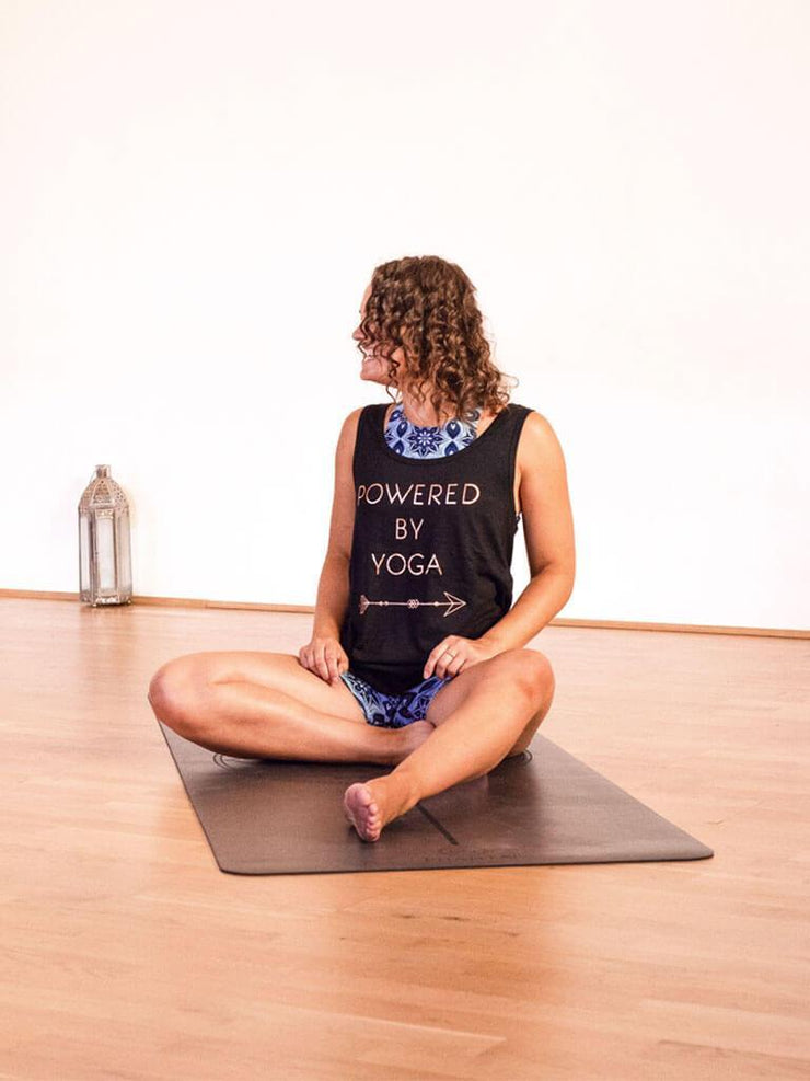 Powered By Yoga Singlet - Organic Cotton Bamboo - Made By Yogis - £29.95