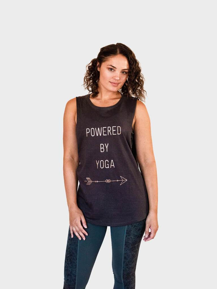 Powered By Yoga Tank Top - Organic Cotton Bamboo - Made By Yogis - £32.00