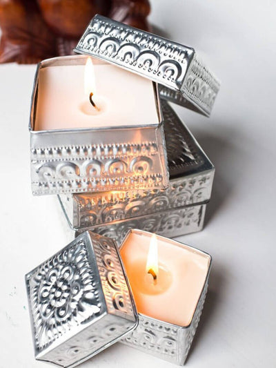 Mala Collective Candles Mini / Silver Traditional Offering Candle - Mini Sandalwood