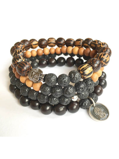 Clarity + Strength Men's Mala Bracelet - Malatopia - £31.89