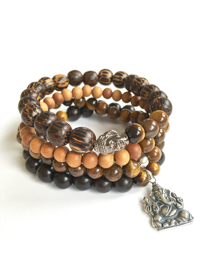 Courage + Protection Men's Mala Bracelet - Malatopia - £32.00