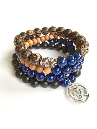 Wisdom Warrior Men's Mala Bracelet - Malatopia - £31.89