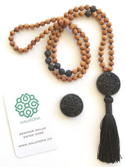 Malatopia Mala necklaces Black Clarity + Strength Mala Necklace - Lava Rock