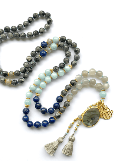 Malatopia Mala necklaces Blue Kali Mala Necklace