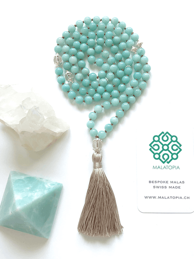 Malatopia Mala necklaces Blue Ocean Goddess Mala Necklace