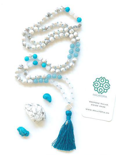 Malatopia Mala necklaces Blue Ocean Waves Mala Necklace