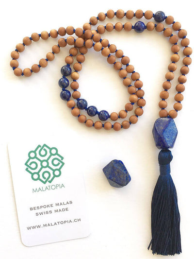 Malatopia Mala necklaces Blue Wisdom Warrior Mala Necklace