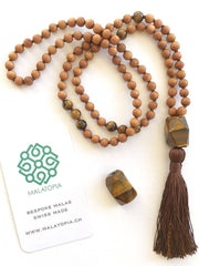 Malatopia Mala necklaces Brown Courage + Protection Mala Necklace